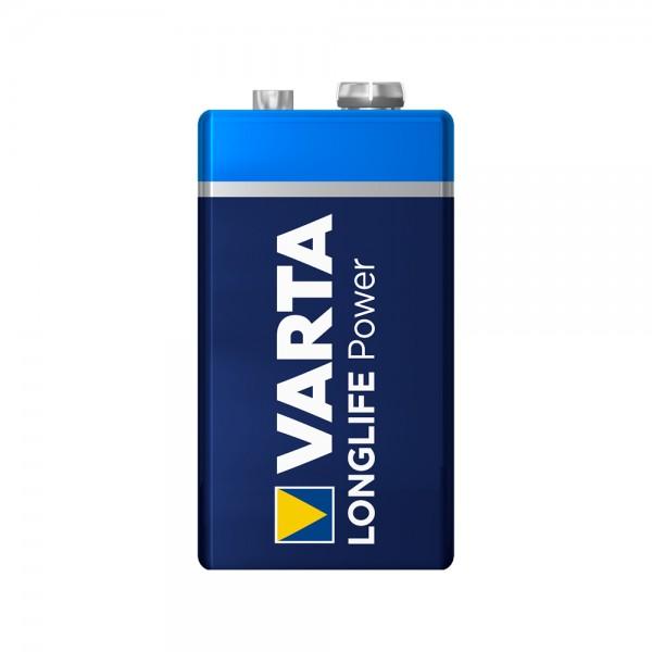 VARTA Longlife Power 9V Block Battery 4922 6LR61 (minder)