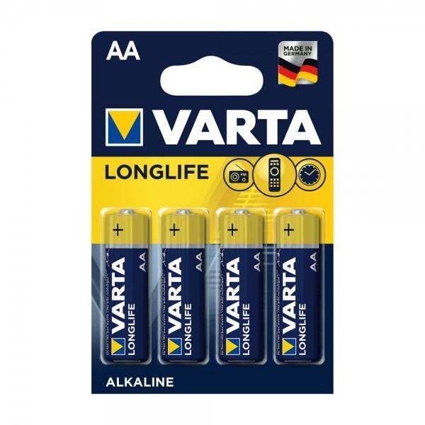 VARTA Longlife Mignon AA Battery 4106 (4 blisterverpakking)