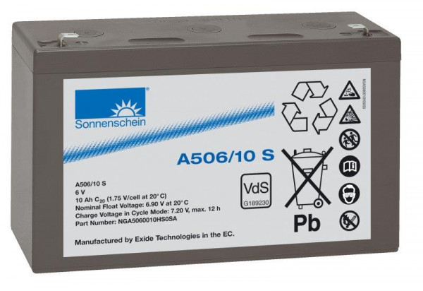 sonnenschein A506/3,5 S 6V 3,5 Ah dryfit loodgel accu VRLA