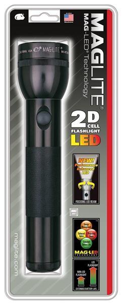 Maglite ST2D016 LED voor 2D cel zwart in blisterverpakking