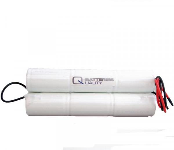Batterijpakket 7.2V 1500mAh NiCd D-Stab L3+L3+10 cm Brugkabel (beide zijden) D Hoge temperatuur cel