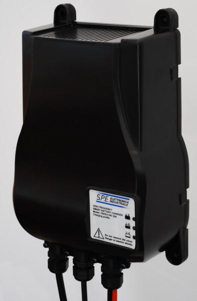 Q-Batteries energiebesparende hoogfrequente lader 24V 20A door S.P.E. Charger CBHD3 zonder batterijp