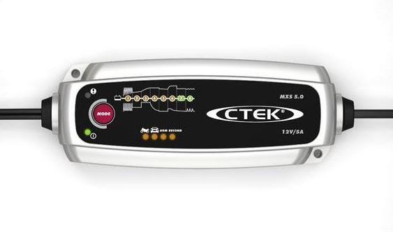 CTEK MXS 5.0 Charger (AC-net) voor loodaccu 12V 5A Charging current High-frequency lader