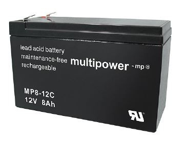 Multipower MP8-12C/12V 8 Ah lood batterij cyclus type