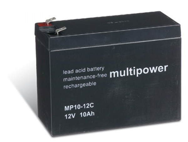 Multipower MP10-12C/12V 10 Ah lood batterij cyclus type