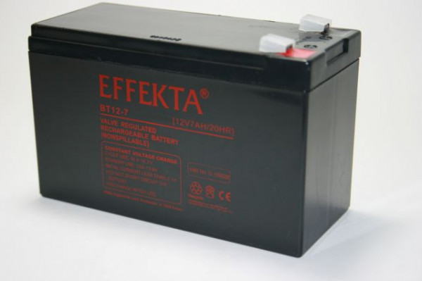 EFFEKTA BT 12-7 VdS 12V 7 Ah VdS loodaccu/lood non spillable AGM VRLA
