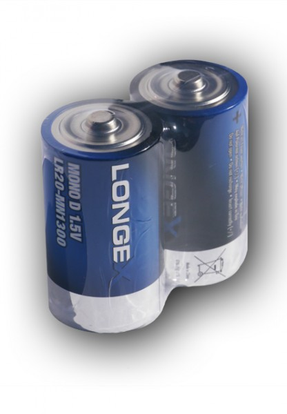 Q-Batteries Mono D LR20 1,5V Alkaline cellen in 2 folie