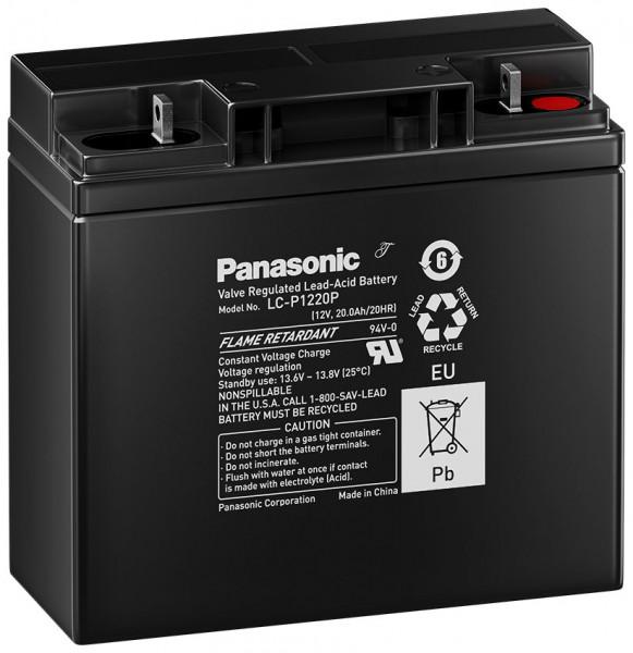 Panasonic LC-P1220P 12V 20 Ah lood accu AGM