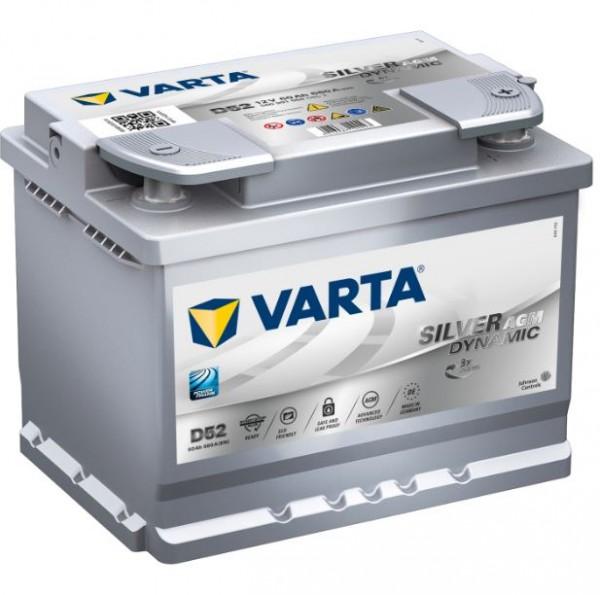 VARTA Start-Stop Silver Dynamic AGM 560 901 068 D52 12V 60 Ah 680A/EN start accu