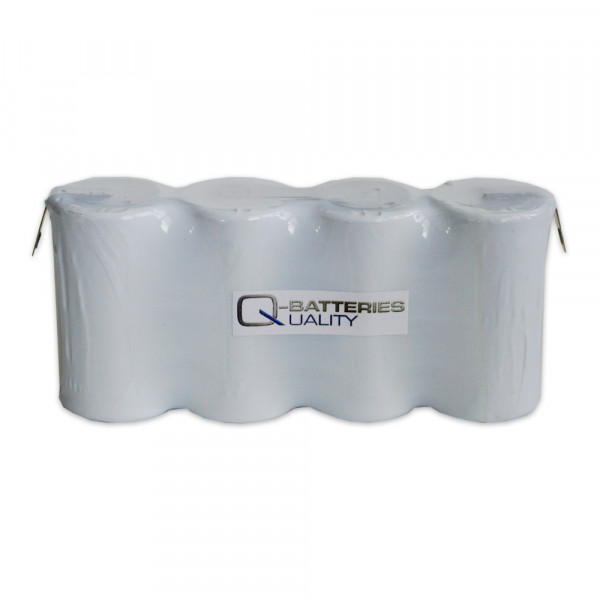 Batterij pack 4,8V 4000mAh serie NiCd F4x1 4xD hoge temperatuur cellen Faston ±6,3 mm
