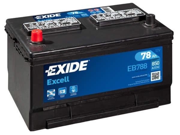 Exide EB788 Excell 12V 78Ah CCA850 EN auto accu