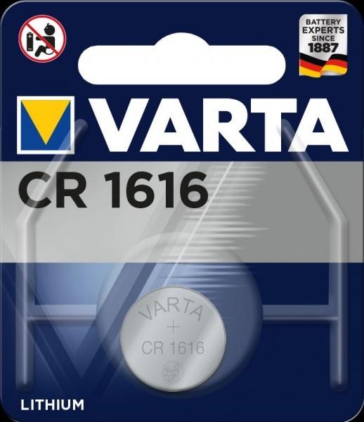 VARTA Electronics CR1616 Lithium Button Cell 3V (1 blisterverpakking) UN3090