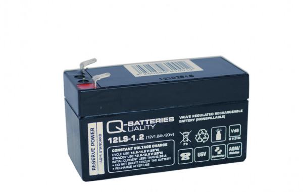 Q-Batteries 12LS-1.2 12V 1,2 Ah Lead vlies batterij/AGM VRLA met VdS