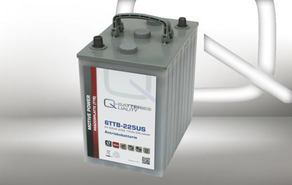 Q-Batteries 6TTB-225US 6V 225 Ah (C20) gesloten blok batterij, positieve buisplaat