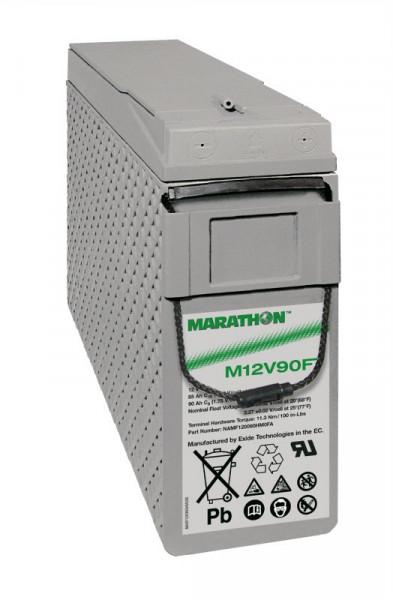 Exide Marathon M12V90FT 12V 86 Ah frontterminal AGM lood non spillable accu VRLA