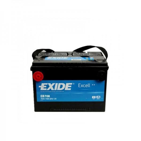 Exide EB708 Excell 12V 70Ah CCA740 EN auto accu