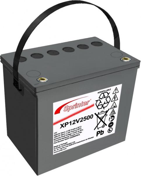 Exide Sprinter XP12V2500 12V 69.5 Ah lood AGM accu met VdS
