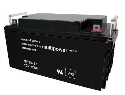 Multipower MP65-12/12V 65 Ah lood batterij AGM met VdS goedkeuring