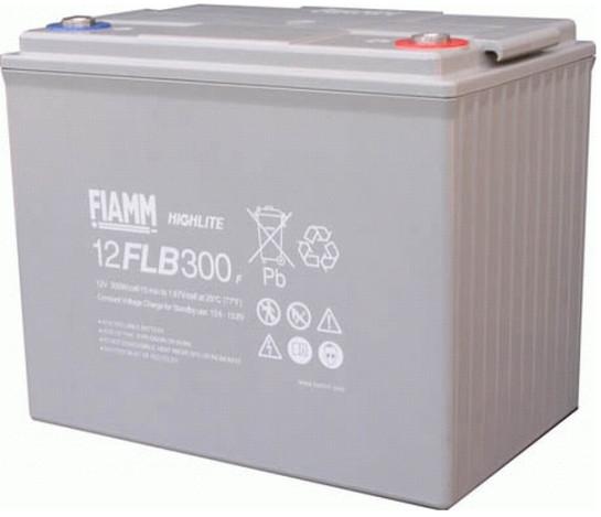 FIAMM HIGHlite 12FLB300P 12V 75 Ah AGM lood non spillable 10-12 jaar accu
