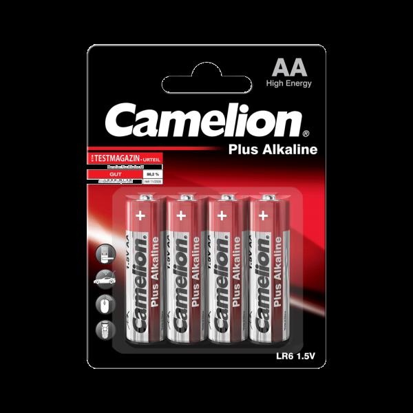 Camelion PLUS LR06 Mignon AA Alkaline batterij (4 blisterverpakking)