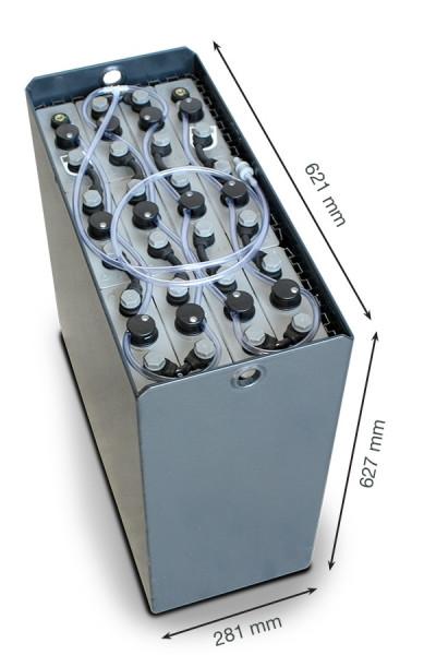 Q-Batteries 24V vorkheftruck accu 3 PzS 375 Ah DIN B (621 * 281 * 627 mm L/B/H) caja de acero 570140