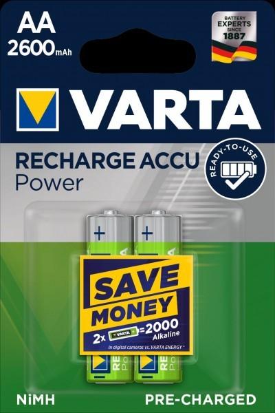 VARTA batterij opladen Accu Power Mignon AA 2600mAh (2 Blister)