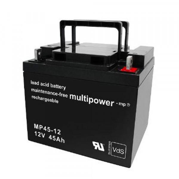 Multipower MP45-12/12V 45 Ah lood batterij AGM met VdS goedkeuring
