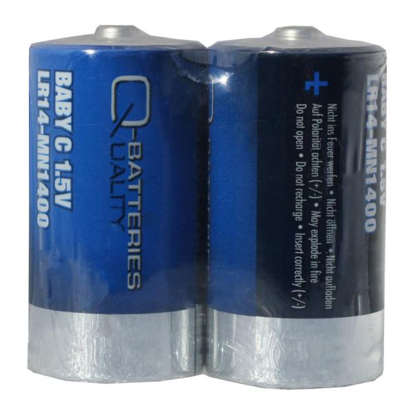 Q-Batteries Baby C Batterij LR14 1,5V Alkaline Cellen (2e folie)