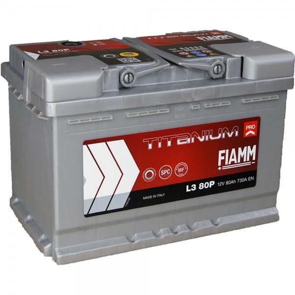 FIAMM L3 80P Titanium Pro 12V 80Ah CCA 730EN Start accu