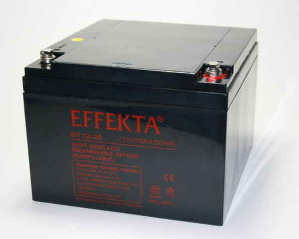 EFFEKTA BT 12-28S/12V 28 Ah loodaccu/lood non spillable accu AGM VRLA
