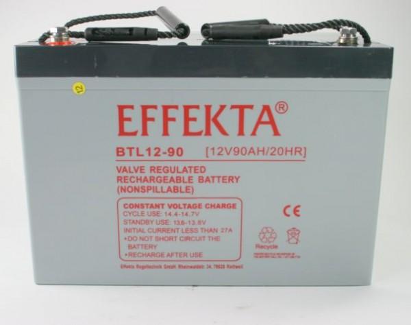 EFFEKTA BTL 12-90 12V 90 Ah loodaccu/lood non spillable accu AGM VRLA