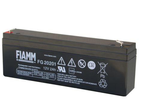 FIAMM FG20201 12V 2,0 Ah loodaccu/loodaccu/AGM VRLA lood non spillable accu AGM VRLA met VdS