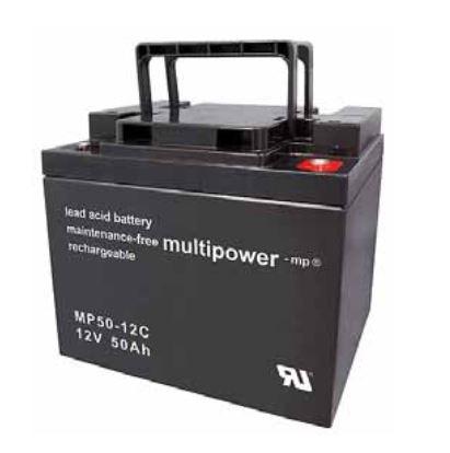 Multipower MP50-12C/12V 50 Ah lood batterij cyclus type