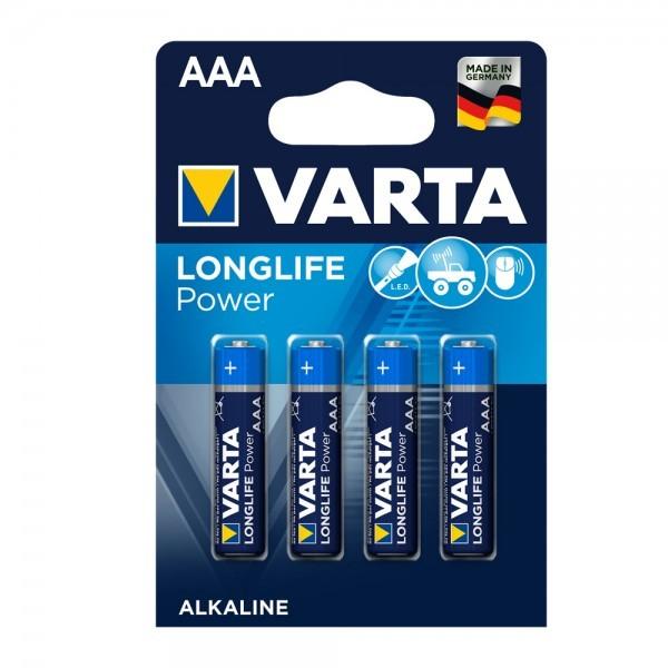 VARTA Longlife Power Micro AAA batterij 4903 LR03 (4 blister)