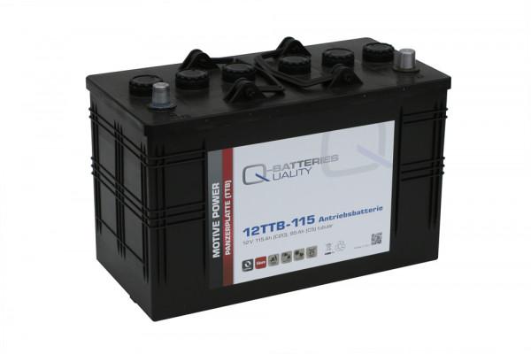 Q-Batteries 12TTB-115 12V 115 Ah (C20) gesloten blok batterij, positieve buisplaat