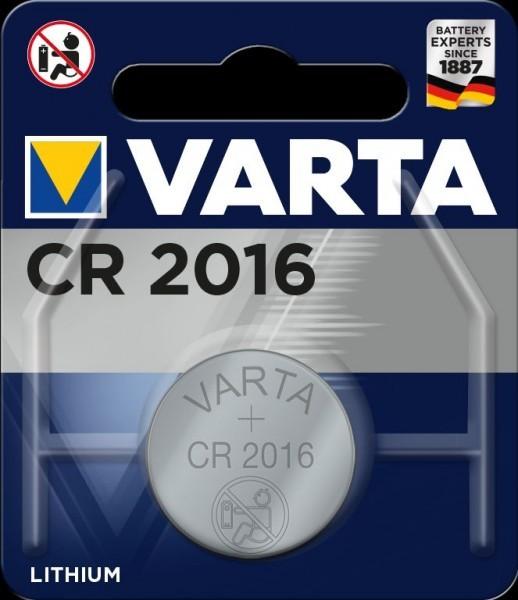 VARTA Electronics CR2016 Lithium Button Cell 3V (1 blisterverpakking) UN3090