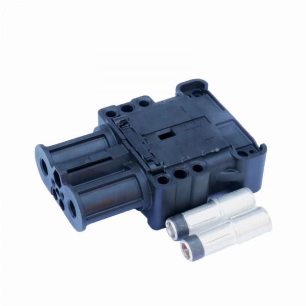 Schakelconstructie kan Euro Din LV 160A koppeling 50 mm² grijs (met eindstop 1500 mm)