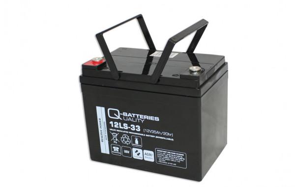 Q-Batteries 12LS-33/12V – 35 Ah loodaccu Standaard type AGM – 10 jaar type
