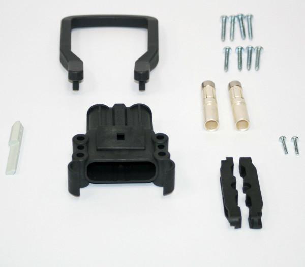 REMA kan Euro Din 160A koppeling 35 mm² (handgreep, codering pin grijs, hoofdcontact, stamverlichtin