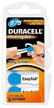 Duracell ActivAir Easy Tab 675 hoortoestel batterij 1.4V (6 blisterverpakking)
