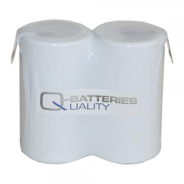 Batterij pack 2,4V 4000mAh serie NiCd F2x1 2xD hoge temperatuur cellen Faston ±6,3