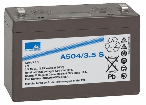 sonnenschein A504/3,5 S 4V 3,5 Ah dryfit gel accu VRLA