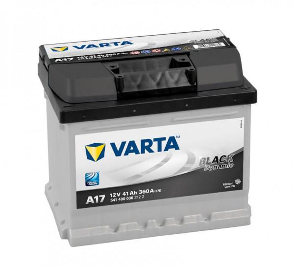 VARTA BLACK Dynamic 541 400 036 3122 A17 12Volt 41 Ah 360A/EN start accu