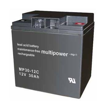 Multipower MP30-12C/12V 30 Ah lood batterij cyclus type