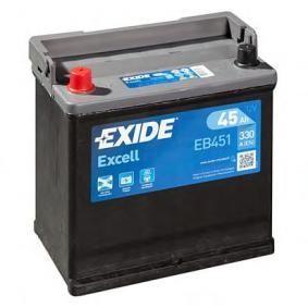 Exide EB451 Excell 12V 45Ah CCA330 EN auto accu