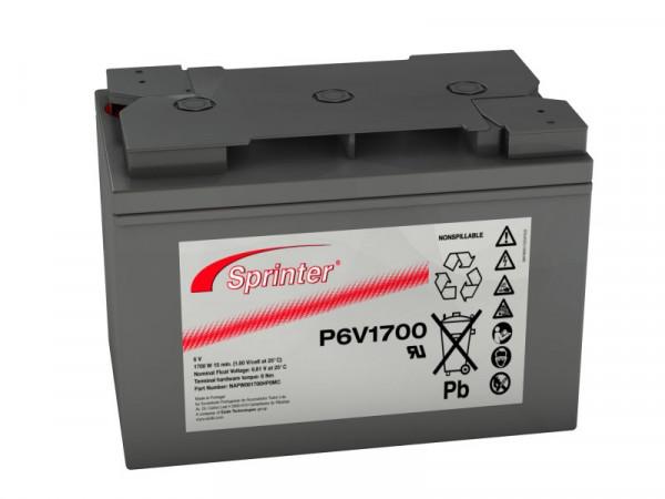 Exide Sprinter P6V1700 6V 122 Ah lood AGM accu