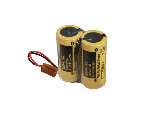 Accupakket Lithium Baby C met kabel en AWU stekker 6V 5000mAh (BR-CCF2TH) UN 3090, klasse 9 lithiumm