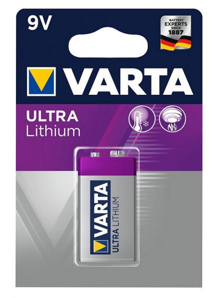 VARTA Electronics 6FR61 9V blok lithiumbatterij (1 blisterverpakking)