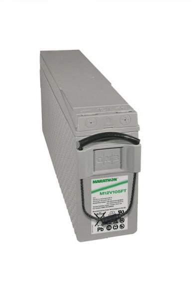 Exide Marathon M12V105FT 12V 100 Ah frontterminal AGM lood non spillable accu VRLA