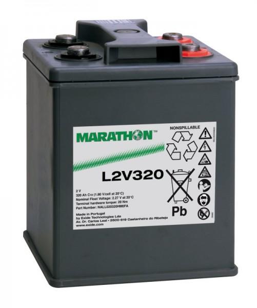 Exide Marathon L2V320 2V 320 Ah AGM loodaccu VRLA
